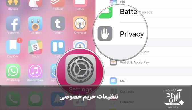 تنظیمات حریم خصوصی - آروند